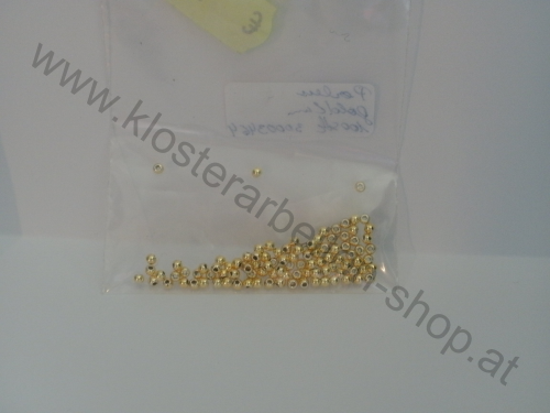 Perlen 2 mm gold