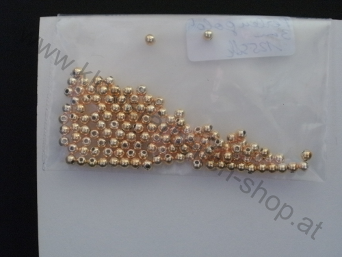 Perlen 3 mm gold