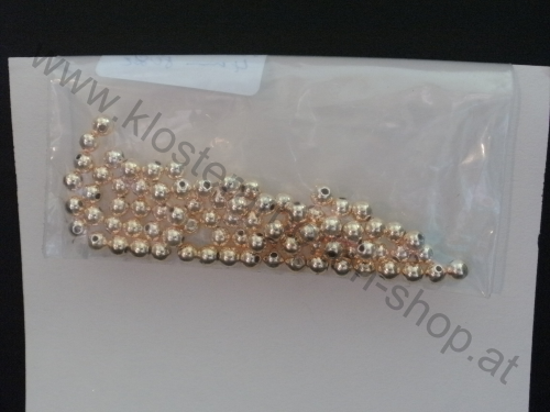 Perlen 4 mm gold