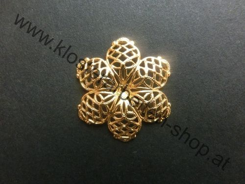 Metall-Blume gold